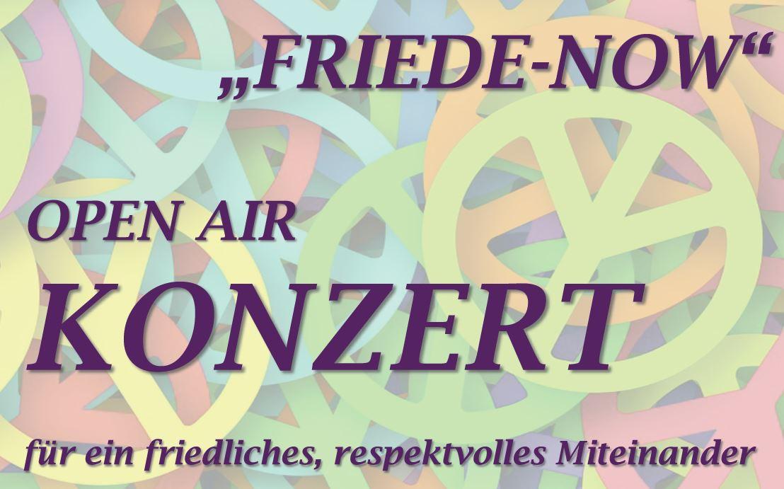 Friede-NOW Open Air Konzert am 15.9.19 von 15 bis 18 Uhr auf dem Breslauer Platz