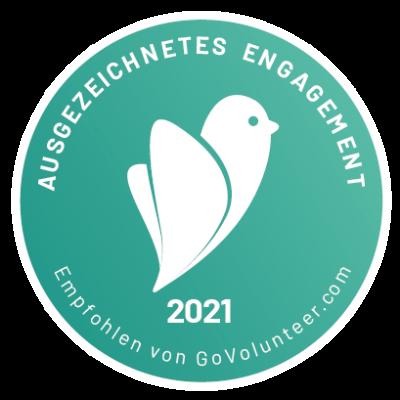 GoVolunteer Siegel Ausgezeichnetes Engagement 2021